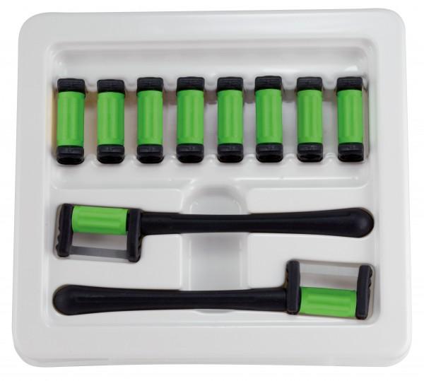 FitStrip doppelseitige Streifen, 10 Streifen, 2 Griffe, grobe Körnung, 90 Micron / 0,30mm