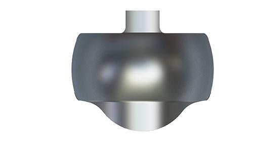 NiTin-matrijzenbanden van metaal met een geprononceerde kromming voor een optimale aanpassing, grote molaar, subgingivaal, 8.7 mm